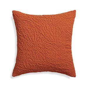 NEW ✨ Crate & Barrel Pebble Orange Pillow